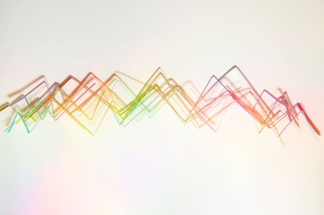 Colorful Abstract Graphs On Each Other