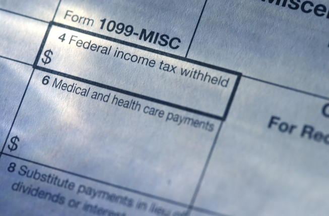 shot of tax forms