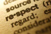 "Selective focus on the word "" Respect  ""ï¼?shot with very shallow depth of field."