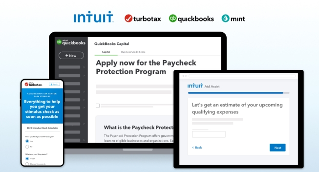 Intuit Launches New Innovations to Help Consumers and Small Businesses with U.S. Government Aid and Relief Programs
