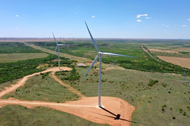 Mesquite Star wind farm in Fischer County, Texas. Image courtesy of Clearway Energy Group