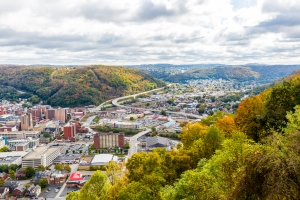 The City Of Johnstown Pennsylvania From The Highest Point