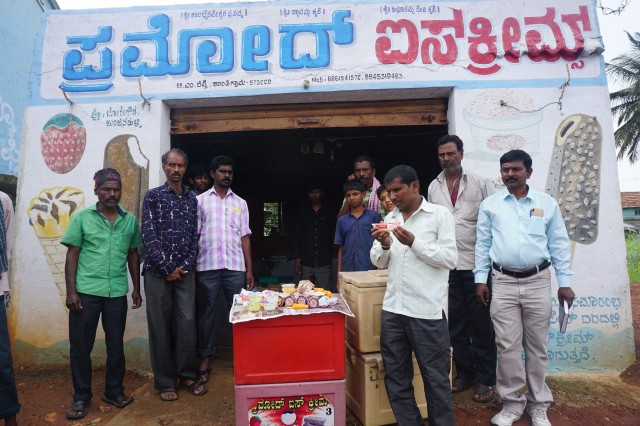 Pramod Ice Cream and employees in India