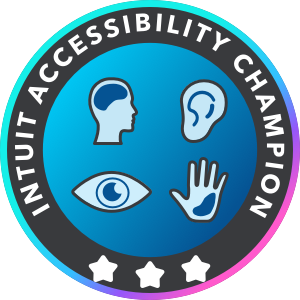 Intuit Accessibility Champion Badge