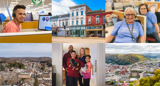 A collage of images from our Prosperity Hubs