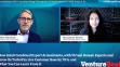 Screenshot of webinar featuring two speakers - Matt Marshall, Founder & CEO of VentureBeat and Marianna Tessel, CTO of Intuit.