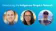 Headshots of three members of the Indigenous Peoples Network