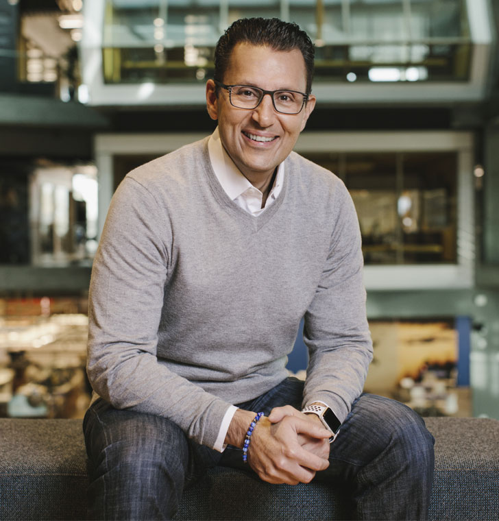 Sasan Goodarzi, Intuit CEO - Sitting and smiling