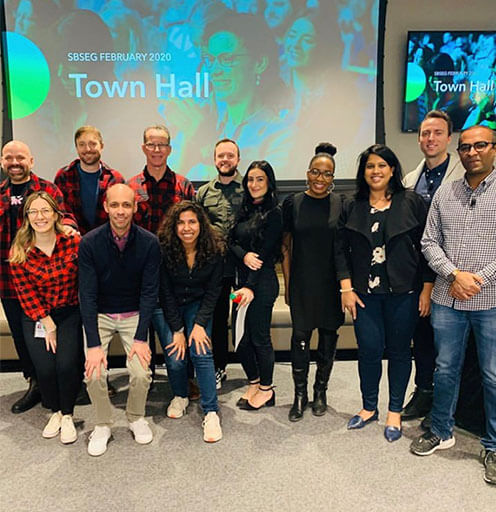 Intuit Employee Photo after CEO Town Hall