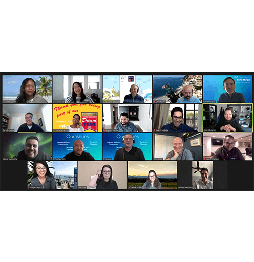 Employees on a Zoom Meeting