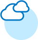 Cloud icon in blue and white