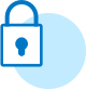 Lock icon in blue