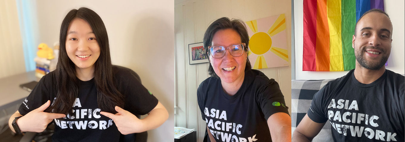 Intuit employees wearing Asia Pacific Network tshirt