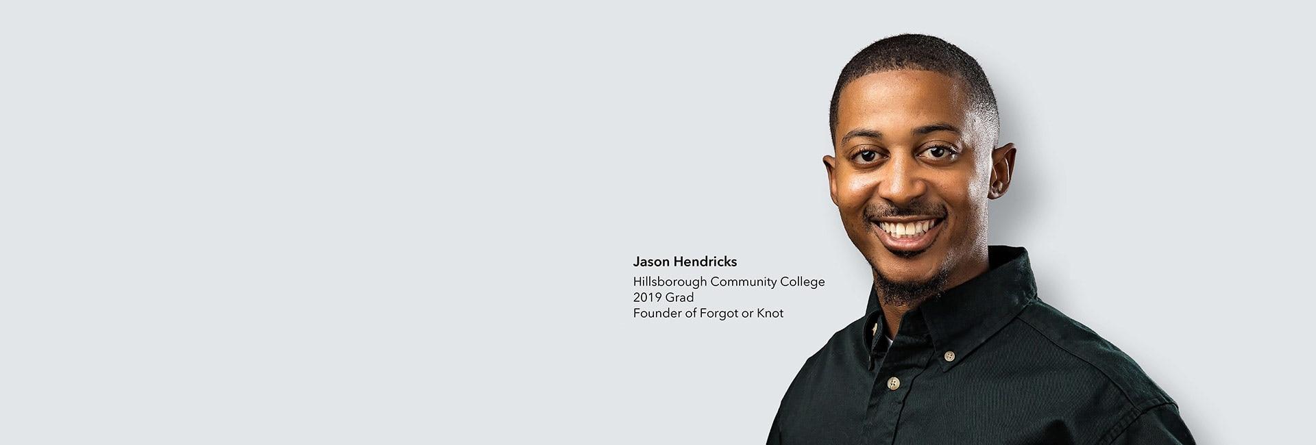 Jason Hendricks, founder of Forgot or Knot, smiling